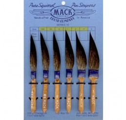 Mack Series 10 Pinstriping Brushes Size 00
