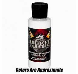W001 Wicked Colors Airbrush Paint - White - 16oz