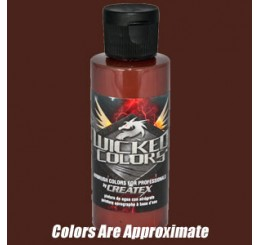 W010 Wicked Colors Airbrush Paint - Wicked Brown - 2oz
