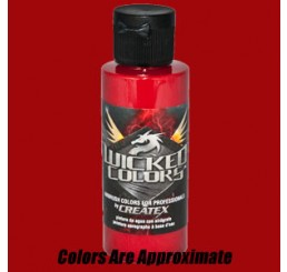 W015 Wicked Colors Airbrush Paint - Wicked Crimson - 2oz