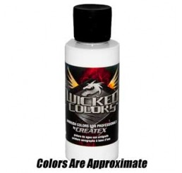W030 Wicked Colors Airbrush Paint - Opaque White - 2oz