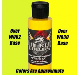 W052 Wicked Colors Airbrush Paint - Detail Yellow - 2oz