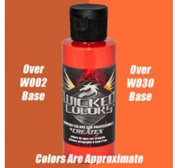 W054 Wicked Colors Airbrush Paint - Detail Orange - 2oz