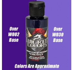 W055 Wicked Colors Airbrush Paint - Detail Violet - 2oz
