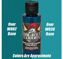 W058 Wicked Colors Airbrush Paint - Detail Blue Green - 2oz