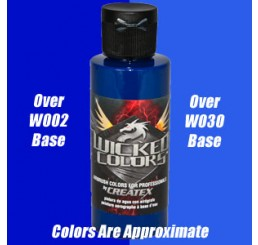 W061 Wicked Colors Airbrush Paint - Detail Cobalt Blue - 2oz