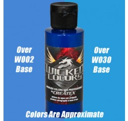 W062 Wicked Colors Airbrush Paint - Detail Cerulean Blue - 2oz