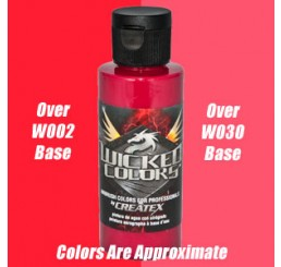 W063 Wicked Colors Airbrush Paint - Detail Carmine - 2oz
