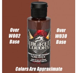 W069 Wicked Colors Airbrush Paint - Detail Burnt Umber - 2oz